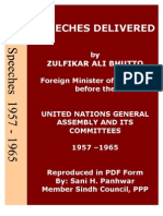 Speeches of Bhutto 1957-65