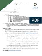 Lorain CO COVID Vaccine Plan