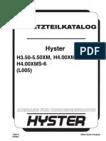 Hyster H3.50-5.50XM (L005) parts manual
