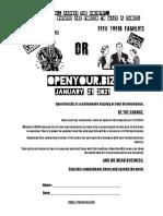 OpenYour.biz flyer organizes day national civil disobedience