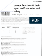 Corrupt Practices & their impact on economics and society