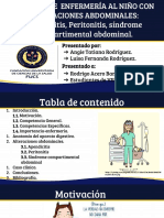 Apendicitis Peritonitis síndrome compartimental abdominal. (1)
