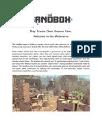 The Sandbox Whitepaper 2020