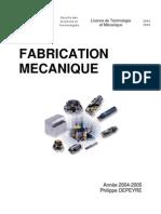 Fabrication Mecanique Cours