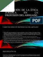 Aplicación de la ética jurídica en la profesión
