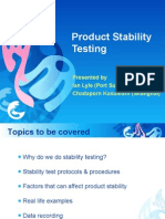 3.5 Product Stability Testing