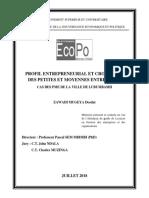 Profil entrepreneurial et croissance des PME