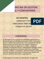 DIPLOMATURA EN GESTION SOCIAL Y COMUNITARIA. LIDERAZGO