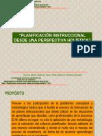 Planificación Instruccional desde una Perspectiva Holística