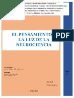 El Pensamiento a luz de la Neurociencia