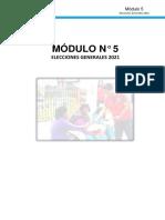 MODULO 5 - ELECCIONES GENERALES 2021