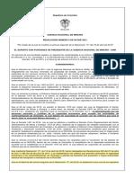 Resolución 005 del 6 de enero de 2021