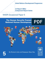 HDRO - Human Security Guidance Note