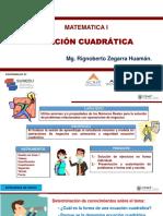 ECUACION CUADRATICA  2020 - II