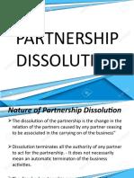 AFAR -  Partnership Dissolution