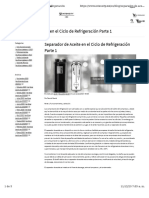 Separador de Aceite en el Ciclo de Refrigeración Parte 1
