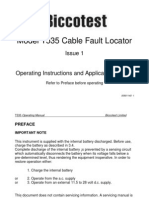 Biccotest Model T535 Cable Fault Locator