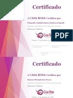 certificados casa rosa