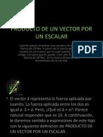 PRODUCTO DE UN VECTOR POR UN ESCALAR 18-febrero