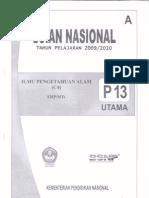 SOAL UN IPA PAKET A 2010