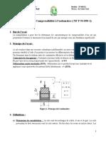 TP N 3 Essai de Compressibilité à leodomètre