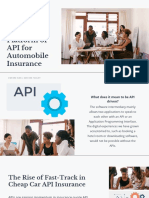 The Need for Businesses under the Platform of API for Automobile Insurance