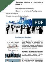 Sociologia, Relações Sociais e Convivência Humana - Unidade 1
