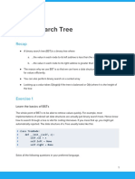Worksheet Binary Search Tree