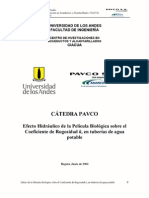18-Efecto Hidraulico de Biopelicula Sobre La Rugosidad en Tuberias