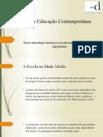 Breve introdução histórica à escola em Portugal – marcos importantes