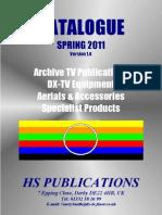 HS PUBLICATIONS CATALOGUE SPRING 2011 Version 1.0