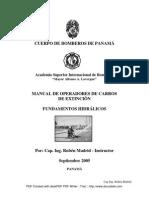 Manual de Operadores de Carros de Extinción. Fundamentos Hidráulicos. Cuerpo de Bomberos de Panamá
