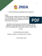 FORMATO DE PROYECTO ARTESANAL