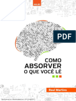 PDF AULÃO - COMO ABSORVER O QUE VOCÊ LÊ