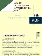 Diapositivas 4 EL PROCEDIMIENTO PARLAMENTARIO EN EL PERÚ
