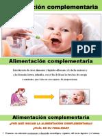 Alimentación complementaria y alimetación en el primer año