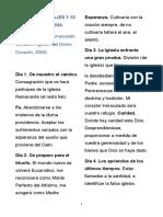 RESUMEN MENSAJES Y 33 VIRTUDES DE MARÍA