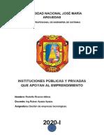 instituciones publicas y privadas que apoyan al emprendimiento_rodolfo riveros