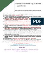 Instructivo Seguro de Vida Accidentes 2020 - IPN