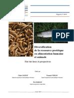 Diversification de la ressource protéique en alimentation humaine et animale
