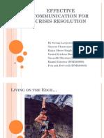 Effective Communication for Crisis Management