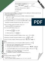 Série d'exercices N°2 - Math les nombres complexes - Bac Mathématiques (2010-2011) Mr chouchaneguetat