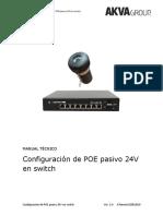 Manual técnico - Configuración de POE pasivo 24V V1.0