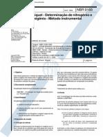 NBR 09168 - 1994 - Níquel - Determinação de Nitrogênio e Oxigênio - Método Instrumental.pdf