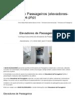 Elevadores de Passageiros - BASS ELEVADORES