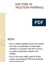 Iron and steel as cons. material