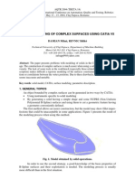 HYBRID MODELING OF COMPLEX SURFACES USING CATIA V5