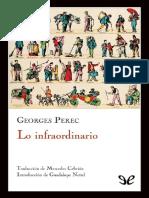 Lo infraordinario- George Perec
