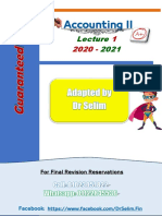 Accounting 2 Dr Selim Lecture 1