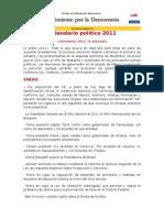 Calendario político 2011